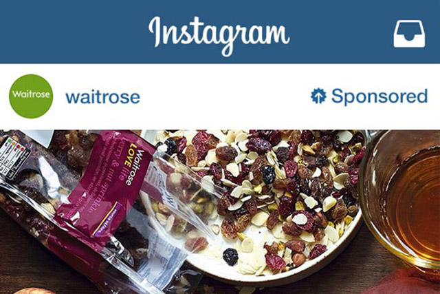 waitrose ad on instagram