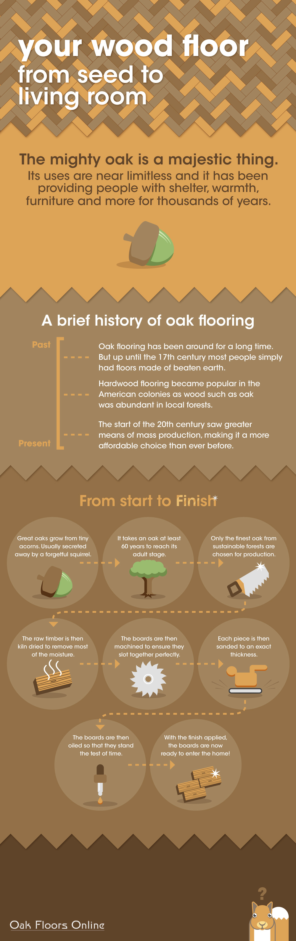 Oak Floors Online Infographic