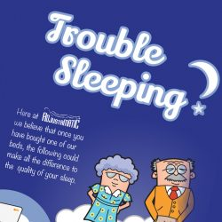 Trouble Sleeping infographic for Adjustamatic Beds