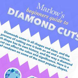 Diamond Cuts Infographic for Marlow's Diamonds