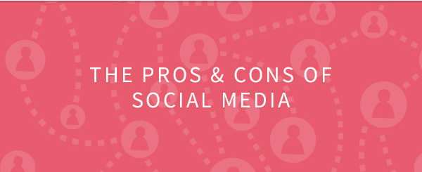 The pros and cons of social media infographic