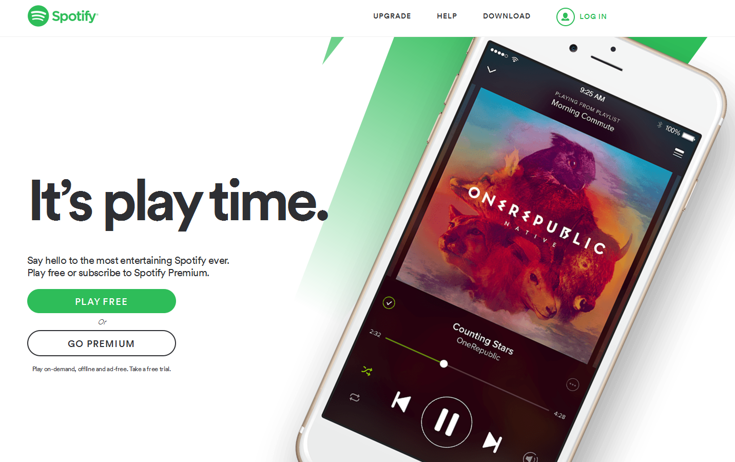 Spotify offers a free trial