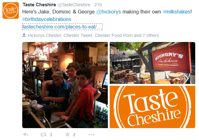 taste cheshire twitter collage