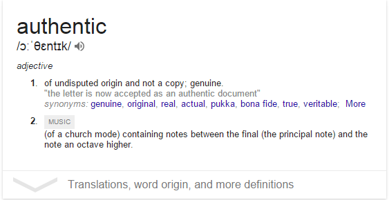 authentic definition