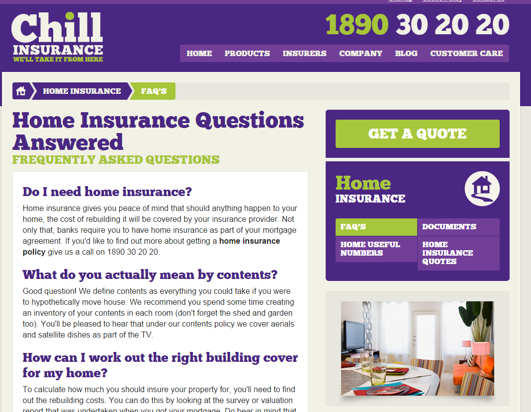 Chill Home Insurance Asset