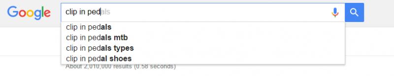 Google Search Clip In Pedals