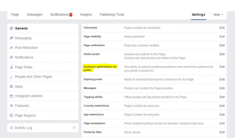Click FB screenshot Settings
