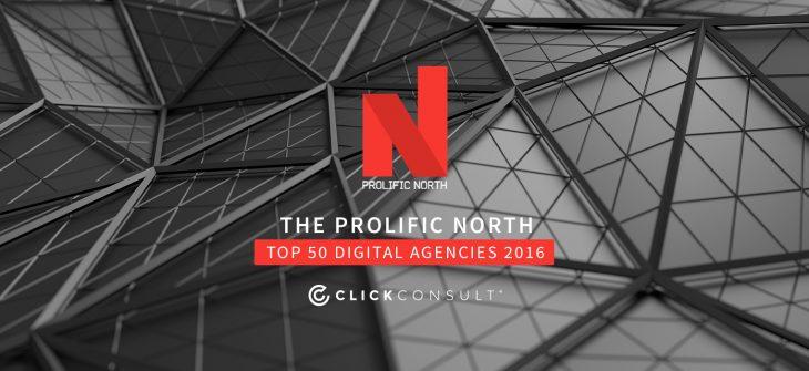Prolific North top 50 agencies 2016
