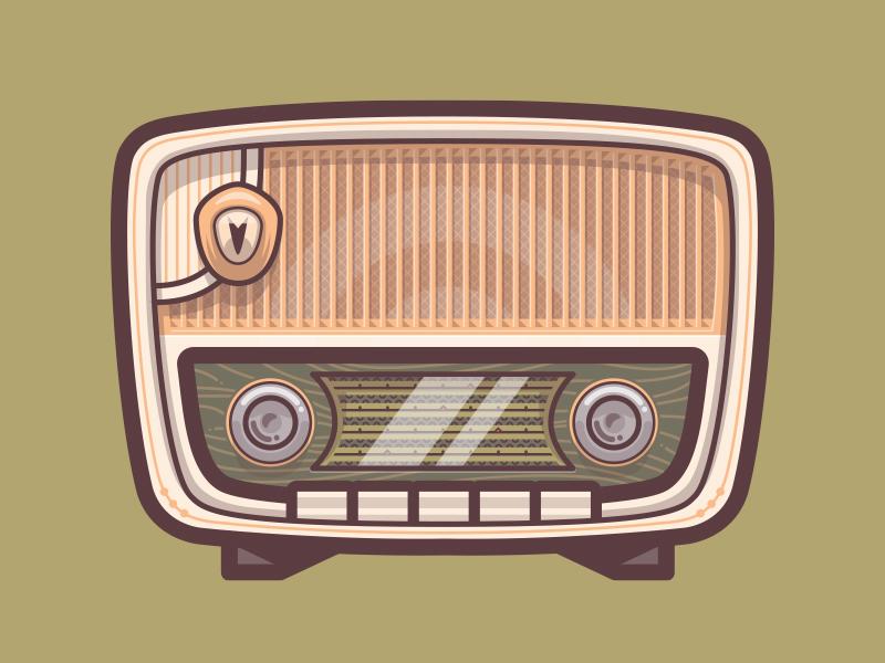 Old timey radio image