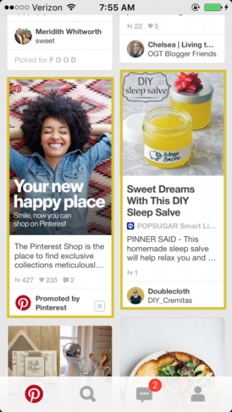 Pinterest promoted pin image
