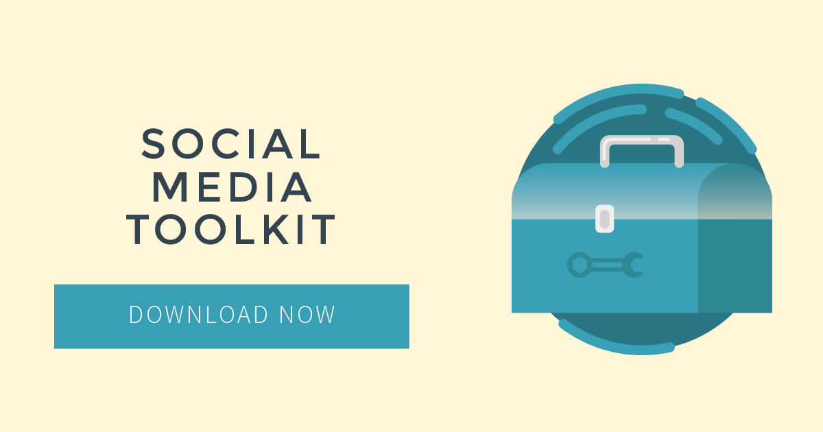 Social media toolkit download button