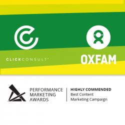 Click Consult's 'Oxfam Unwrapped' campaign receives high praise from PMA judges