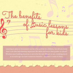 Preview of Caswells Strings benefits of music lessons infographic content marketing
