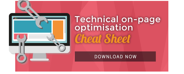 technical on-page optimisation cheat sheet