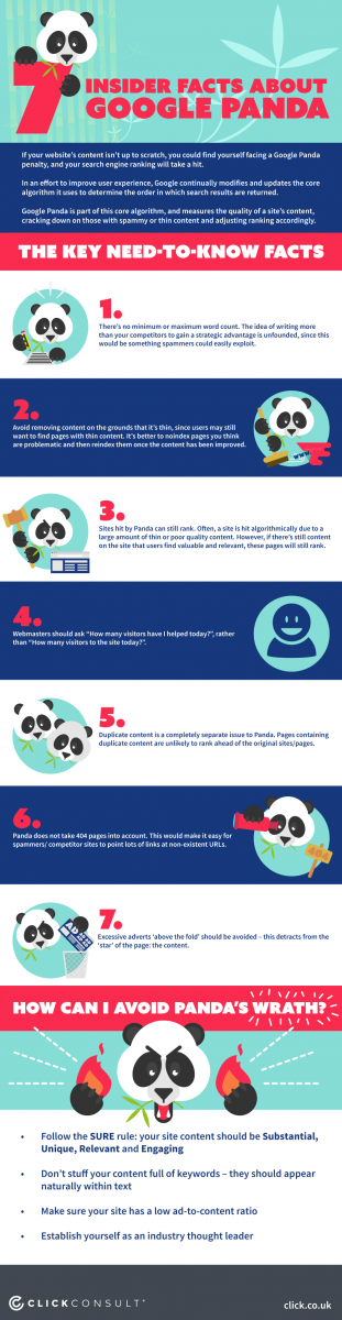 7 insider facts about Google Panda infographic