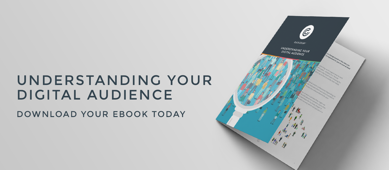 understanding your digital audience landing page header