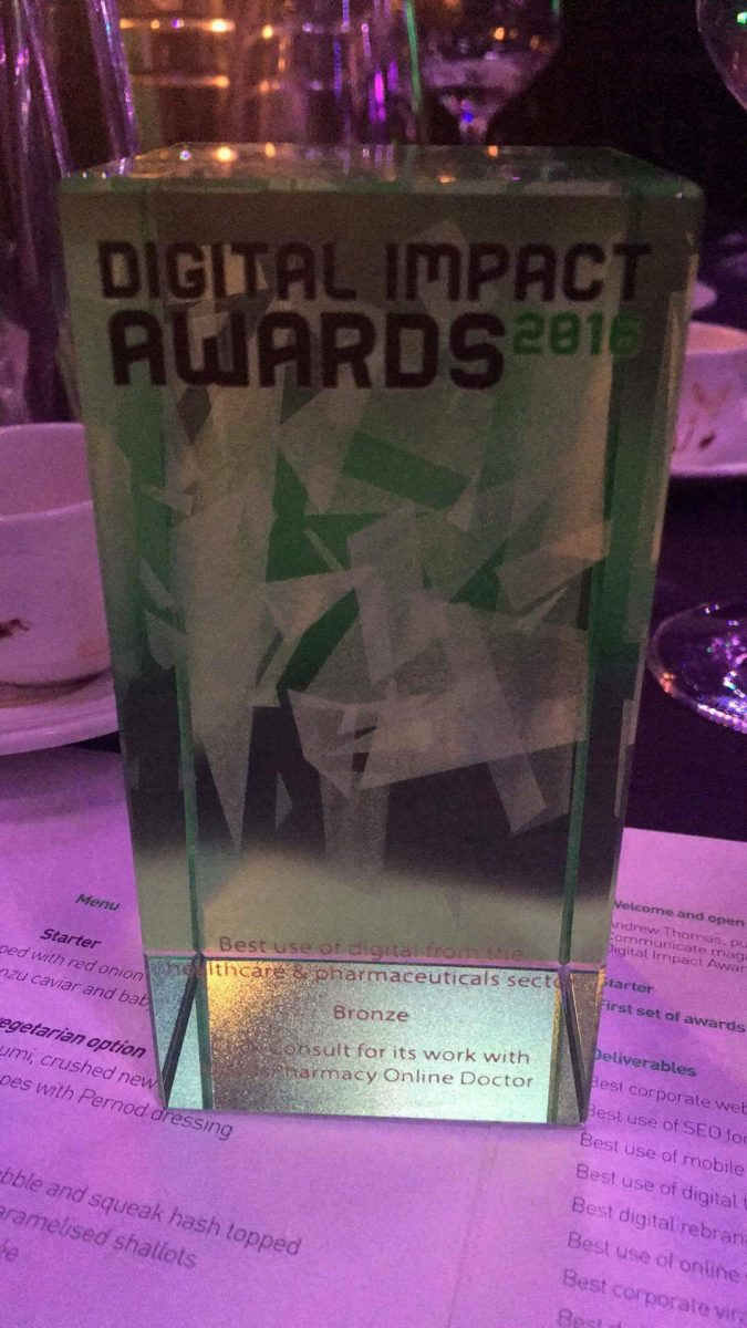 Digital Impact Award Trophy