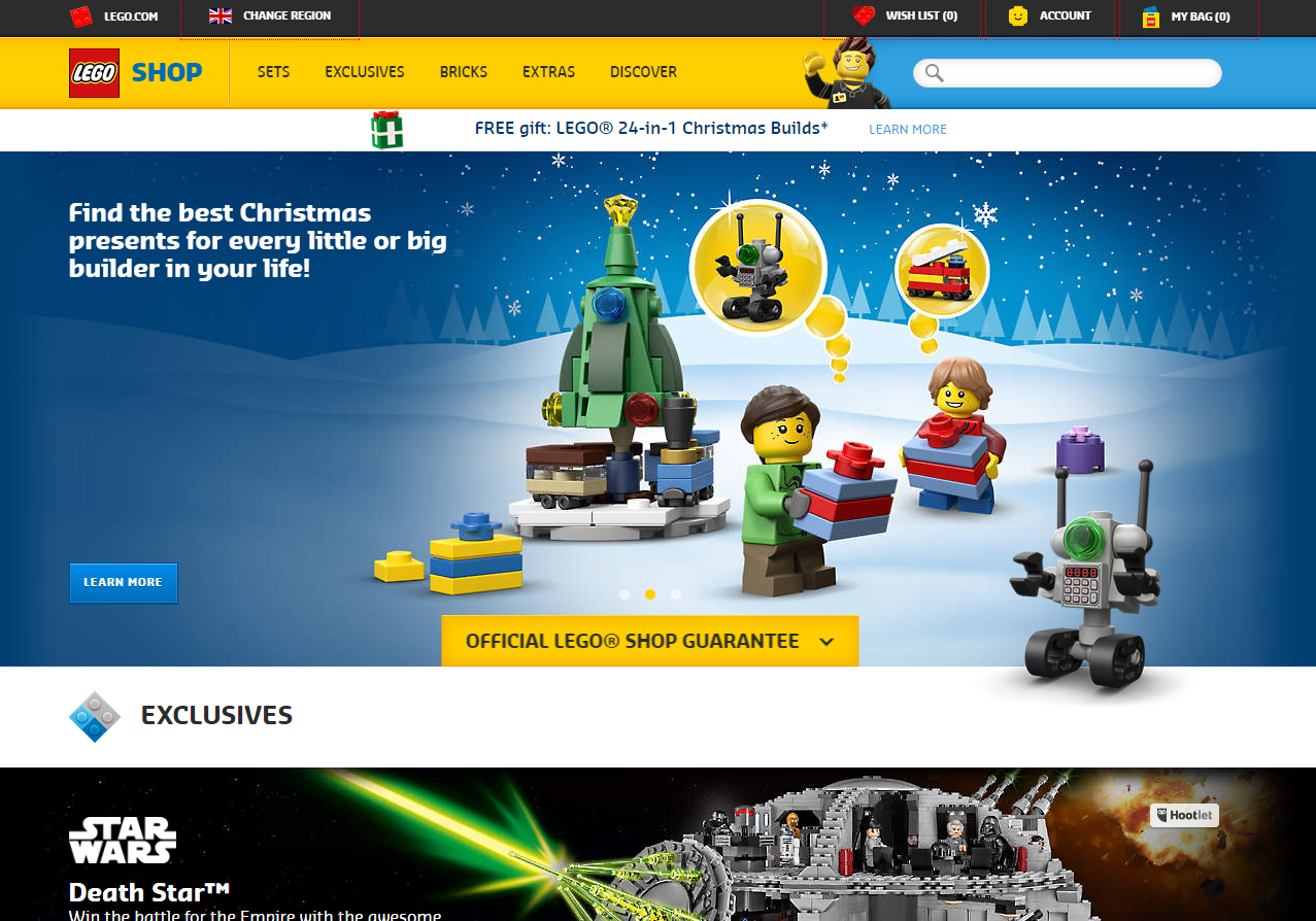 lego search PPC landing page