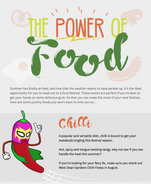 the power of food infographic
