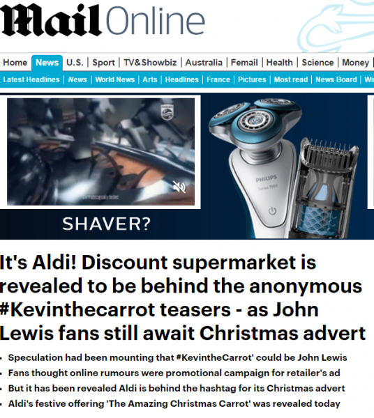 aldi revealed to be behind carrot ad