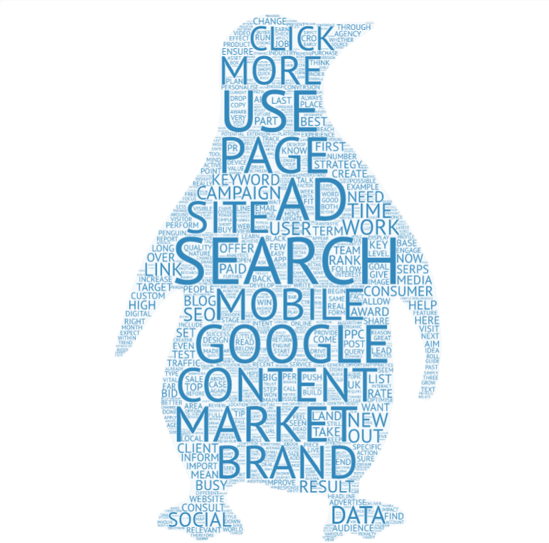 2016 word cloud penguin