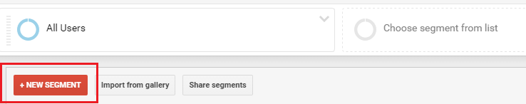 new segment view - google analytics
