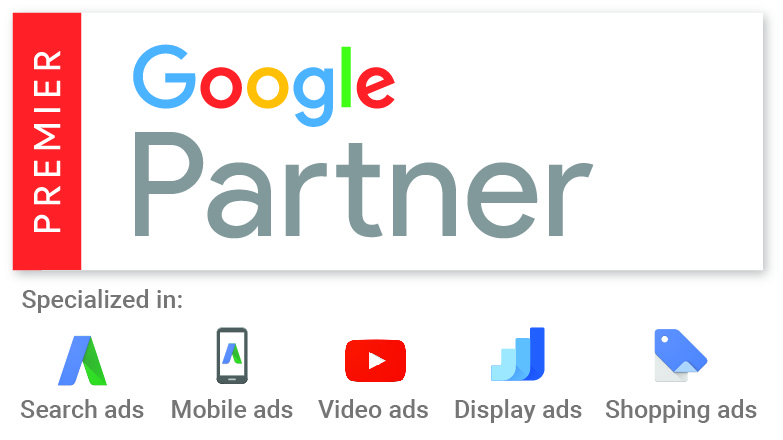premier google adwords partner logo with specialisms
