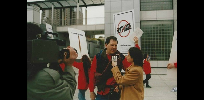 salesforce protest