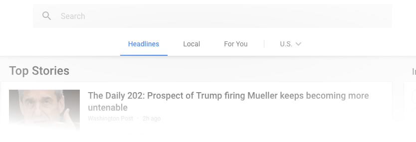 google mini newsfeed