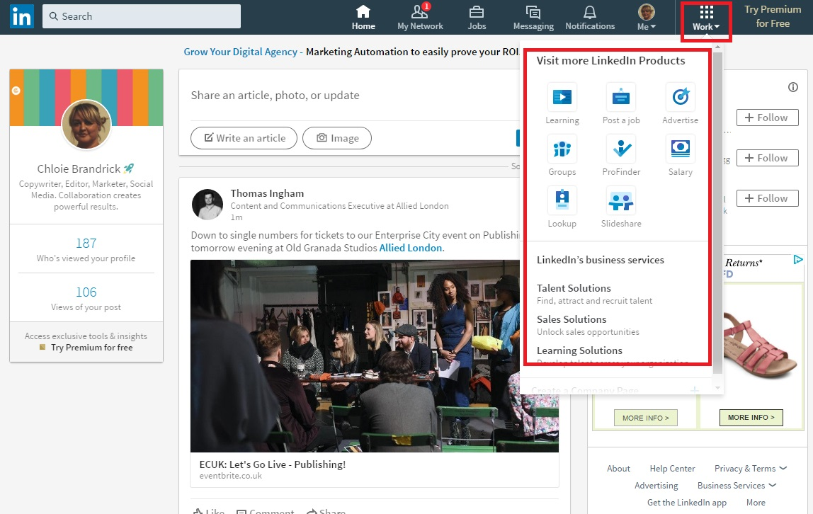 Other Linkedin products