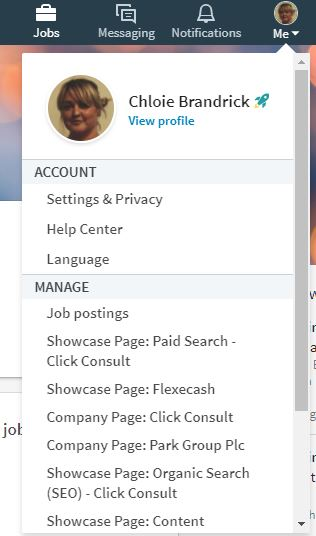 linkedin notifications setttings pages you manage