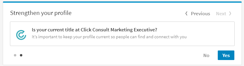 linkedin strengthen your profile scott
