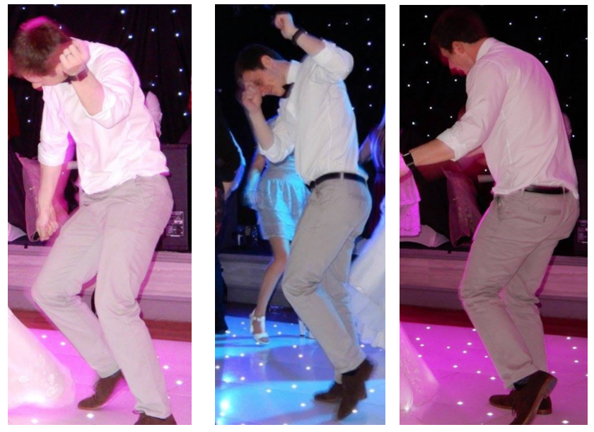 Stu dancing