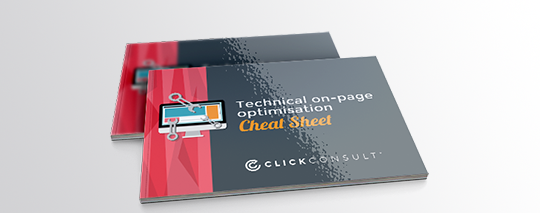 Technical On-Page Optimisation Cheat Sheet ebook