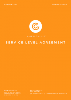 Click Consult's Service Level Agreement