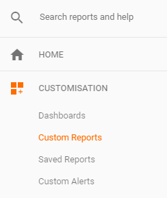 custom reports location