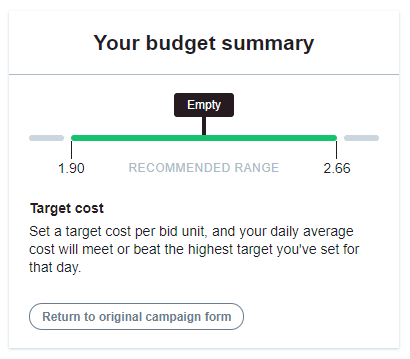 your budget summary