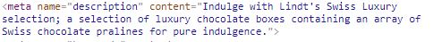 lindts meta description