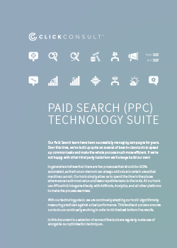 Paid Search (PPC) Technology Suite Overview