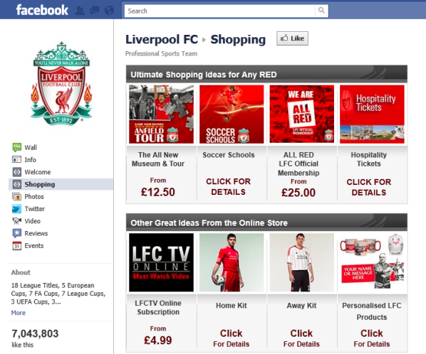 liverpool fc facebook shop