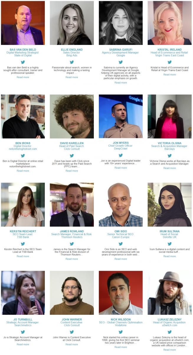 Benchmark 2018 speaker line up