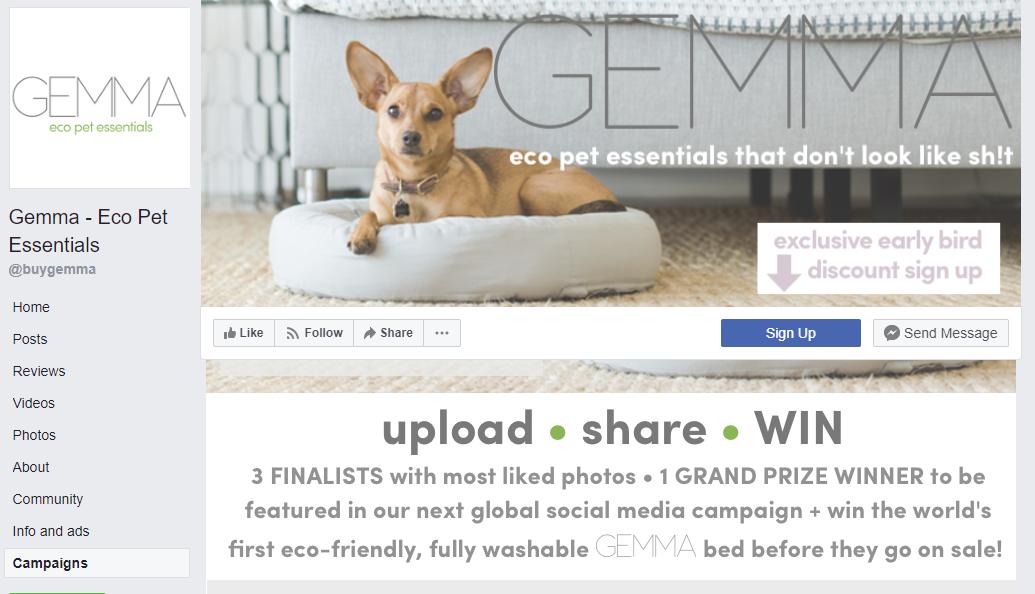 gemma facebook contest