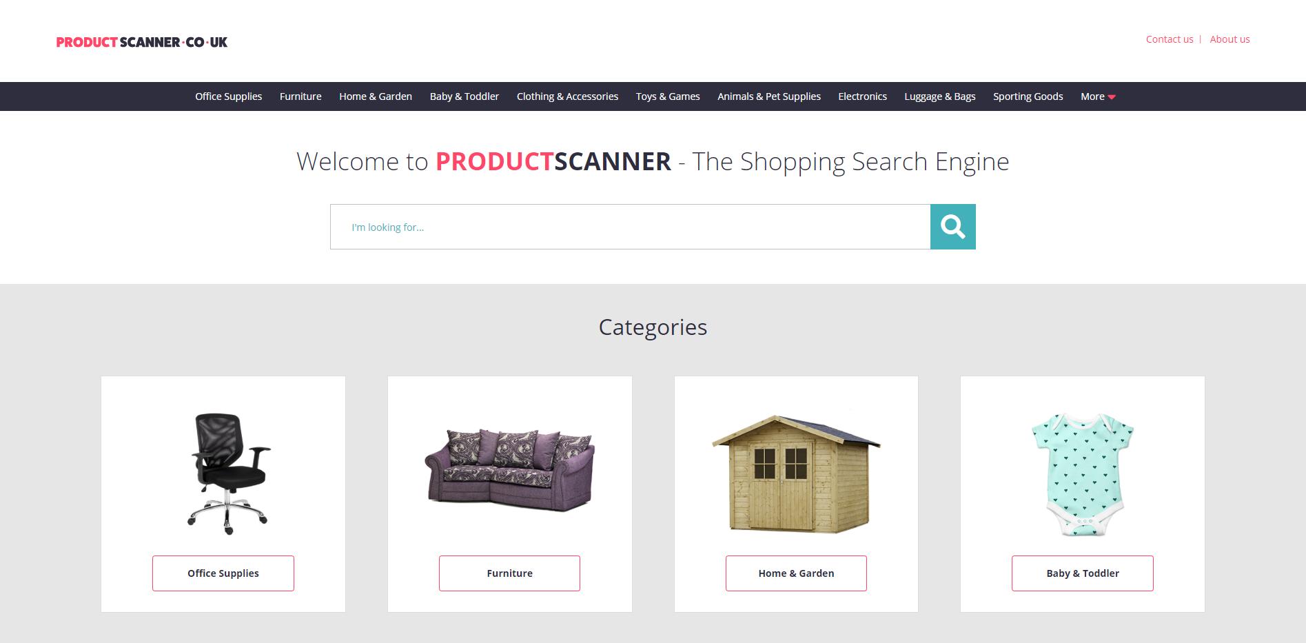 ProductScanner Website