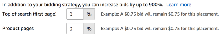 amazon bid modifiers