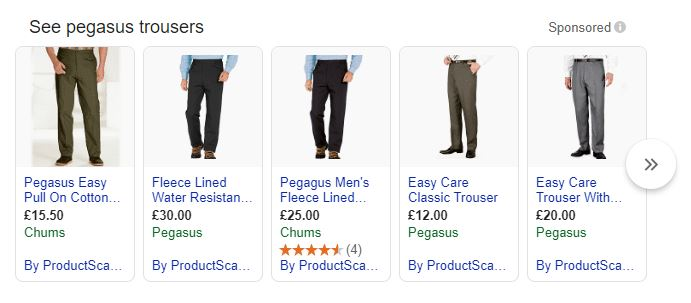 SERP Results ProductScanner