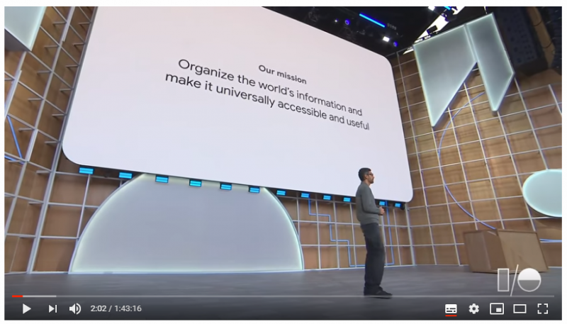 Mission Statement Google I/O 19