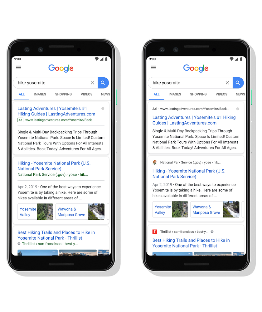 google mobile serps