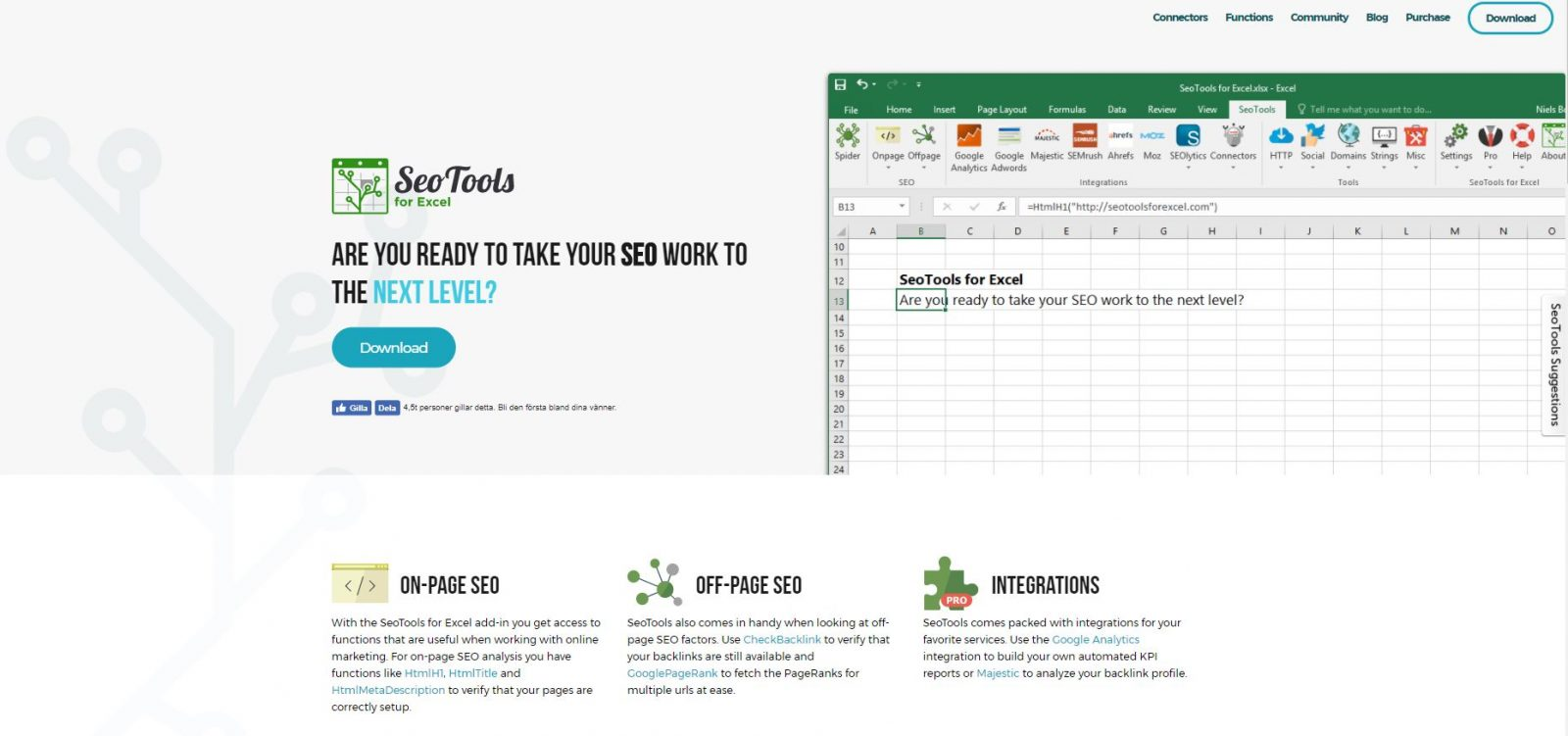 SEOTools screenshot of website