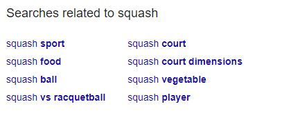 squash search related
