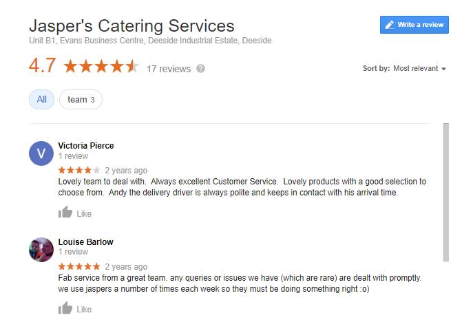 jaspers google reviews